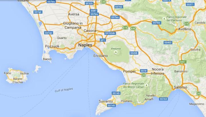 Pompeje-mapa