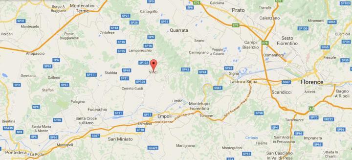 Vinci-mapa