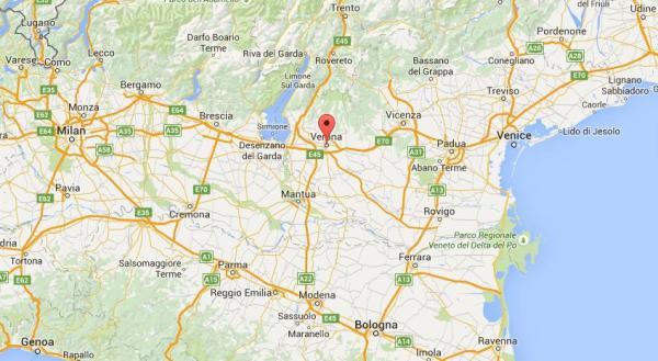 Verona-mapa