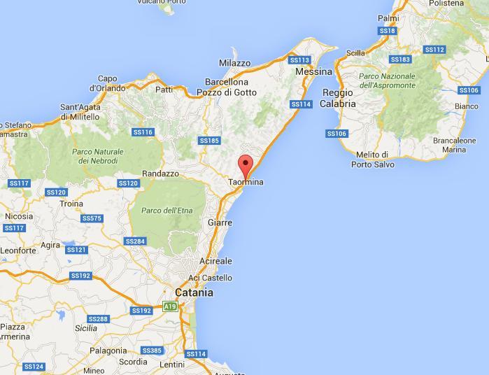 Taormina Mapa