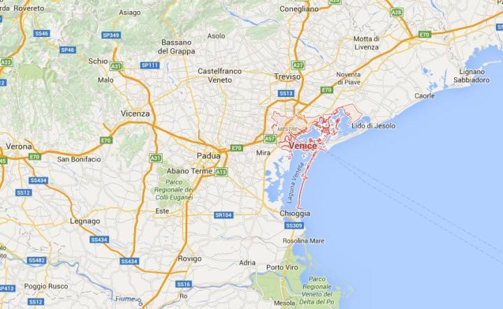 Wenecja Mapa